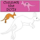 Gioco educativo: Colleghi i punti Funzionamenti svegli del canguro illustrazione di stock