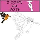Gioco educativo: Colleghi i punti La bella upupa sveglia vola illustrazione vettoriale