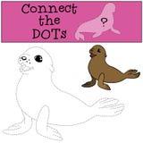 Gioco educativo: Colleghi i punti Piccola guarnizione di pelliccia sveglia del bambino royalty illustrazione gratis