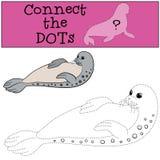 Gioco educativo: Colleghi i punti Piccola guarnizione macchiata sveglia illustrazione di stock