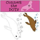 Gioco educativo: Colleghi i punti Piccole nuotate sveglie della guarnizione royalty illustrazione gratis