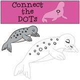 Gioco educativo: Colleghi i punti Piccolo mare macchiato sveglio del bambino illustrazione di stock