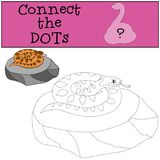 Gioco educativo: Colleghi i punti Piccolo vipera sorridente sveglia royalty illustrazione gratis