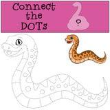 Gioco educativo: Colleghi i punti Piccolo vipera sveglia del bambino royalty illustrazione gratis