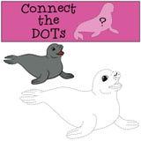 Gioco educativo: Colleghi i punti Poca guarnizione di pelliccia sveglia illustrazione di stock