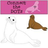 Gioco educativo: Colleghi i punti Poca guarnizione di pelliccia sveglia illustrazione vettoriale