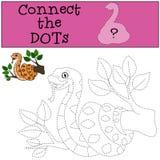 Gioco educativo: Colleghi i punti Vipera sveglia illustrazione di stock