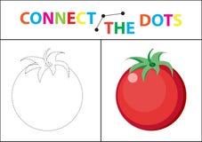 Gioco educativo dei bambini s per le capacità motorie Colleghi l'immagine dei punti illustrazione vettoriale