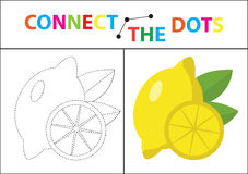 Gioco educativo dei bambini s per le capacità motorie Colleghi l'immagine dei punti illustrazione di stock