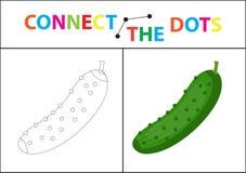 Gioco educativo dei bambini s per le capacità motorie Colleghi l'immagine dei punti Per i bambini dell'età prescolare Cerchio sul royalty illustrazione gratis