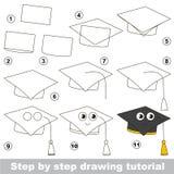Gioco educativo del bambino semplice Esercitazione del disegno Immagini Stock Libere da Diritti