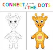 Gioco educativo del ` s dei bambini per le capacità motorie Colleghi l'immagine dei punti Per i bambini dell'età prescolare Cerch illustrazione di stock