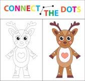 Gioco educativo del ` s dei bambini per le capacità motorie Colleghi l'immagine dei punti Per i bambini dell'età prescolare Cerch royalty illustrazione gratis