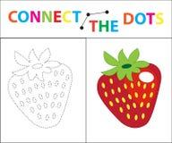 Gioco educativo del ` s dei bambini per le capacità motorie Colleghi l'immagine dei punti Per i bambini dell'età prescolare Cerch illustrazione vettoriale