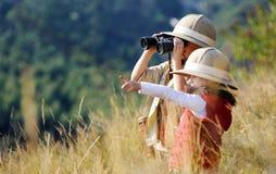Gioco esterno dei bambini di divertimento fotografia stock