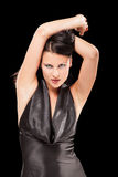 Gioco femminile seducente con il suo hair-2 fotografia stock libera da diritti