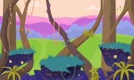 Gioco Forest Background 2 Immagini Stock