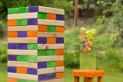 Gioco gigante del blocco Fotografia Stock