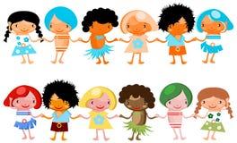 Gioco globale felice dei bambini dei bambini Fotografia Stock