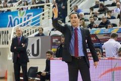 Gioco greco Paok della lega del canestro contro Olympiacos Immagine Stock Libera da Diritti