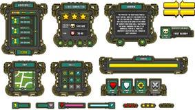 Gioco GUI Set del robot di fantascienza illustrazione di stock