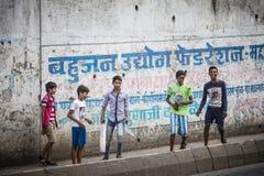 Gioco indiano dei bambini Fotografia Stock Libera da Diritti