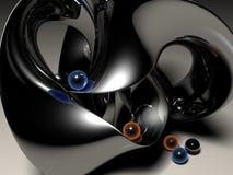 Gioco metallico con i marmi Immagine Stock
