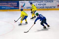 Gioco nel mini hockey con la palla Immagini Stock Libere da Diritti
