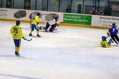 Gioco nel mini hockey con la palla Immagine Stock