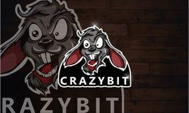 Gioco pazzo di Esport di logo del coniglio Immagine Stock Libera da Diritti