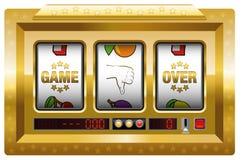 Gioco sopra l'oro dello slot machine Immagine Stock Libera da Diritti