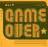Gioco sopra stile dei video giochi di anni '80 dello schermo royalty illustrazione gratis