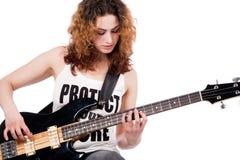 Gioco sulla mia chitarra Immagini Stock