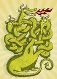 Gioco sveglio del labirinto del drago Fotografia Stock