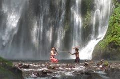 Gioco tradizionale di Lombok Fotografia Stock