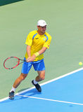Gioco Ucraina v Austria di tennis di Davis Cup Immagini Stock Libere da Diritti