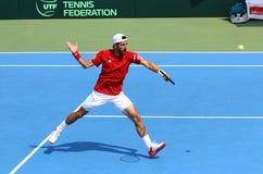 Gioco Ucraina v Austria di tennis di Davis Cup Fotografia Stock Libera da Diritti