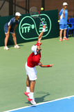Gioco Ucraina v Austria di tennis di Davis Cup Fotografie Stock