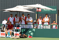 Gioco Ucraina v Austria di tennis di Davis Cup Immagine Stock