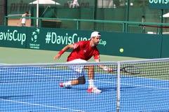Gioco Ucraina v Austria di tennis di Davis Cup Immagini Stock