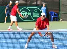 Gioco Ucraina v Austria di tennis di Davis Cup Fotografie Stock Libere da Diritti