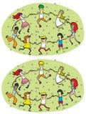Gioco di rappresentazione di differenze del cerchio di ballo Fotografia Stock Libera da Diritti