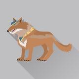 Gioco Wolf Avatar Icon Isolated su bianco Fotografia Stock