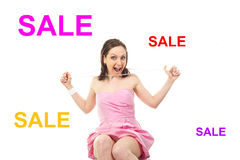 Gioia da vendere Fotografia Stock