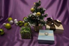 Gioia degli ornamenti di Natale il divertimento Fotografia Stock