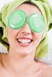 Gioia dei Occhio-Rilievi fotografie stock