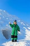 Gioia del bambino di inverno Fotografie Stock