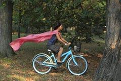 gioia della bicicletta Fotografia Stock