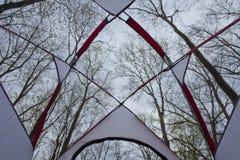 Gioia della tenda Immagine Stock