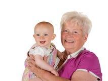 Gioia di essere una nonna Fotografie Stock Libere da Diritti